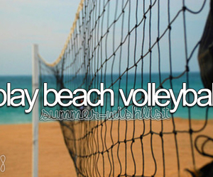 beach and volleyball image