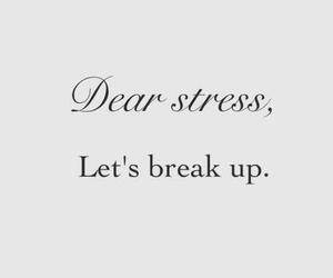 stress, break up, and life image