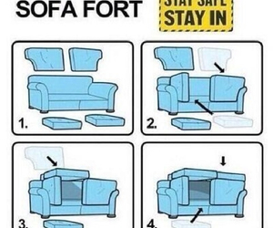 sofa, diy, and fort image