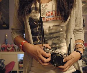 girl, nick jonas, and camera image