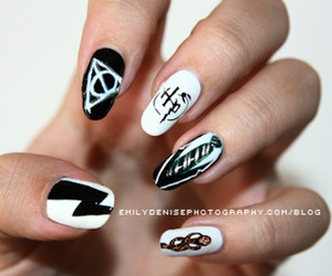 harry potter, nails, and potter image