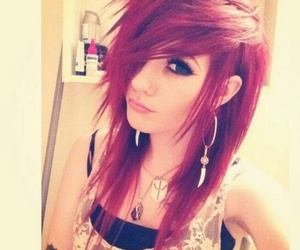 red hair, emo, and hair image