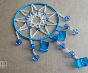 beads, blue, and handmade image