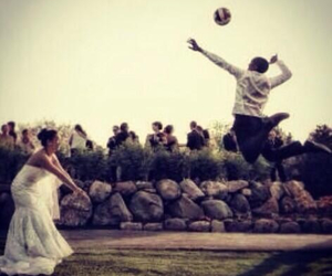 athlete, volleyball, and wedding image
