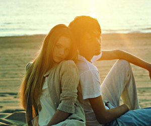 beach, teens, and love image