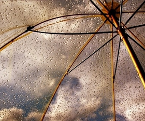rain, umbrella, and sky image