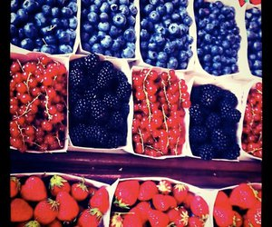 berries, strawberry, and blue image