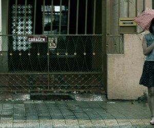dark, gate, and rain image