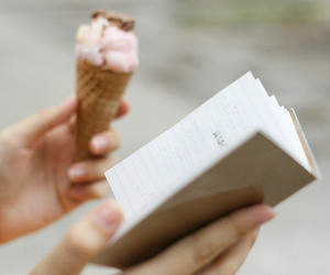 book, ice cream, and vintage image