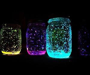 jar, light, and neon image