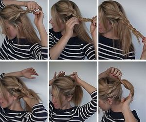 hair, tutorial, and hair tutorial image