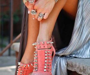 bracelets, pink, and shoes image