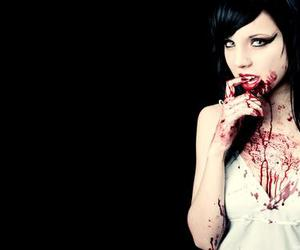 blood, girl, and sexy image