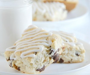 chocolate, food, and scones image
