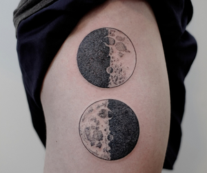 eclipse, ink, and inked image