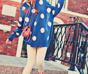 beautiful, polka dots, and fashion image