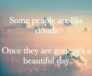 clouds, quote, and people image