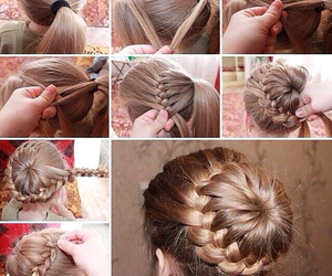 hairstyle, selfmade, and Prom image