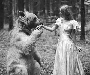 bear, girl, and princess image