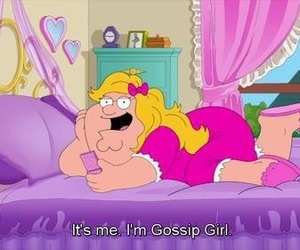 cartoon, family guy, and gossip girl image