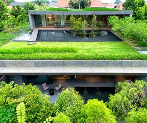 swimming pool, architecture., and tiny garden image
