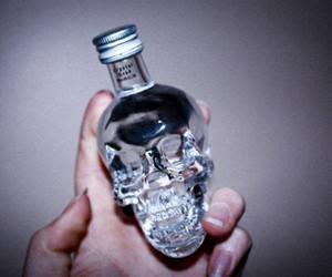 skull, alcohol, and vodka image