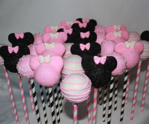 minnie, black, and pink image