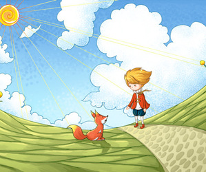 boy, draw, and le petit prince image