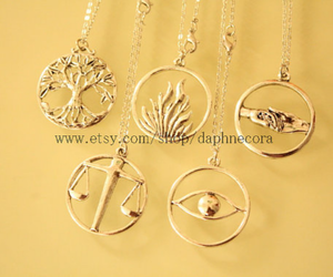 four, necklaces, and divergent image