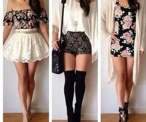 clothes, flowers, and look image