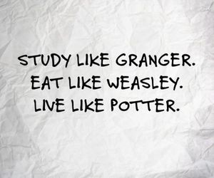 harry potter, weasley, and granger image