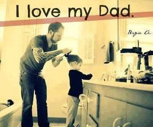 dad, love, and family image