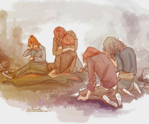 harry potter, fred weasley, and hermione granger image