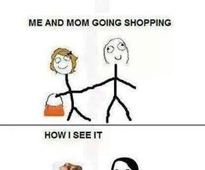 funny, lol, and shopping image
