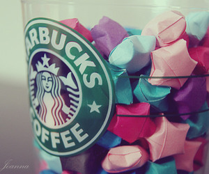 starbucks, stars, and coffee image