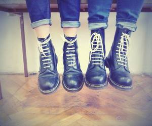 best friend, black, and doc martens image