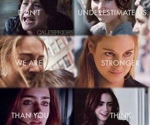 divergent, hunger games, and the mortal instruments image