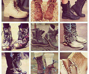 boots, rock, and shoes image