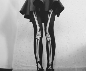 skirt, bones, and black image