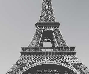 black and white, eiffel, and eiffel tower image