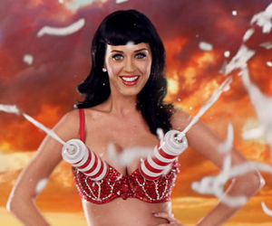 cream, katy perry, and black hair image