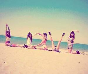 beach, girls, and letters image