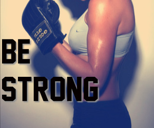 girl and be strong image