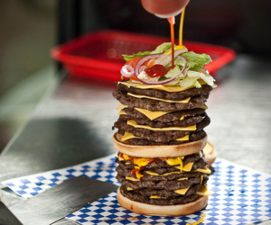 burger, cheesy, and food image