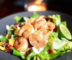 food, salad, and shrimp image