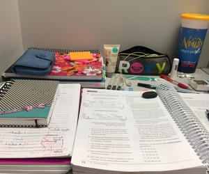 girl, school, and studying image