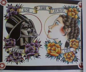 darth vader, star wars, and tattoo image