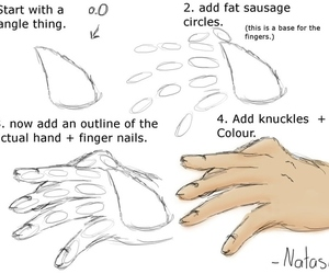 hand and draw image