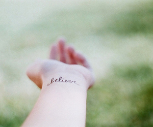believe, tattoo, and hand image
