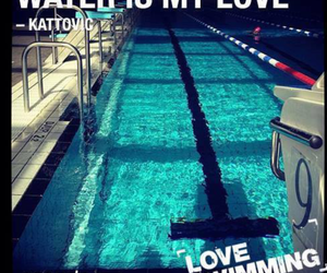 swimming and love image